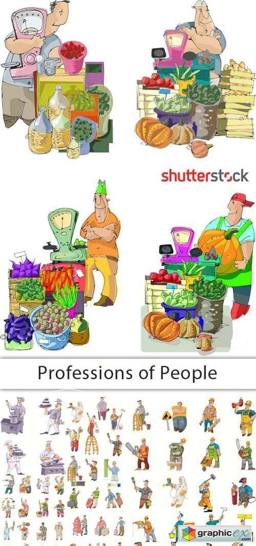 Professions of People 25xEPS