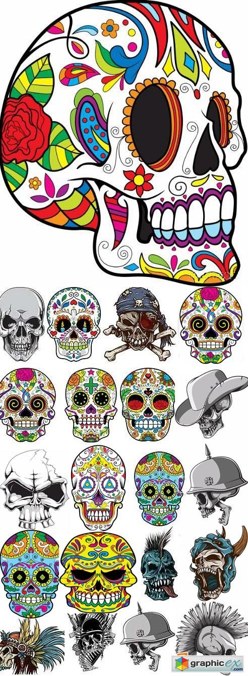 Skulls Pack 1 (Vector - StockPhoto)