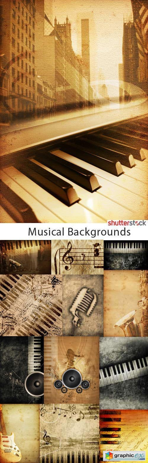 Musical Backgrounds 25xJPG