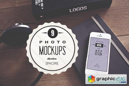 9 Real iPhone photo mockups 43990