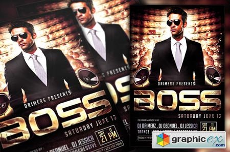Boss Party Flyer 43699