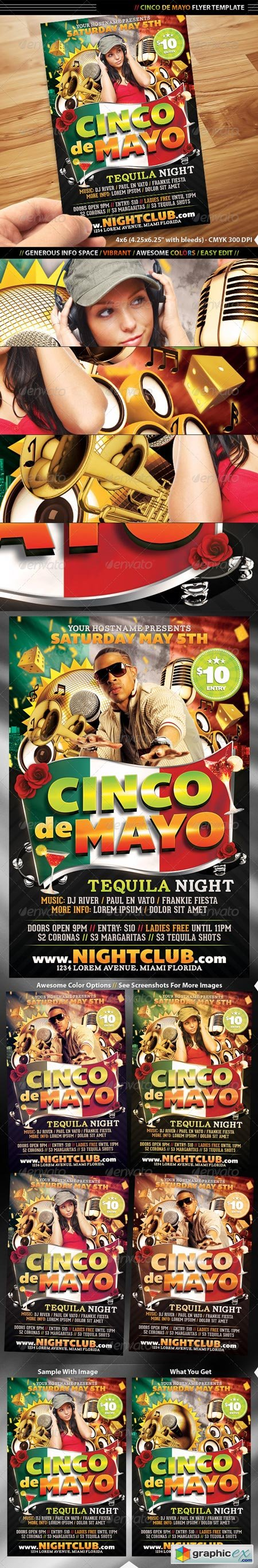 Cinco De Mayo Flyer Template 1849422