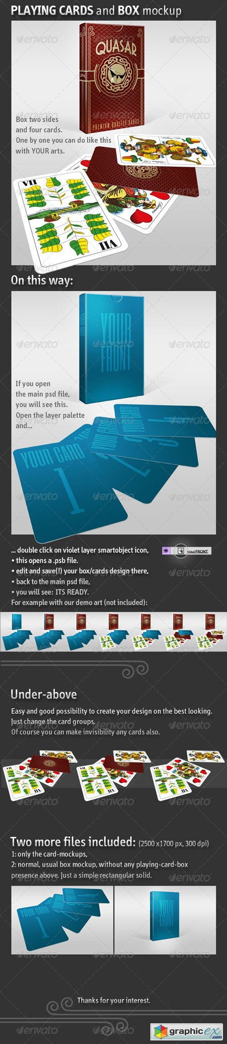 Playing Card - Business Card and Box Mockup 5595309