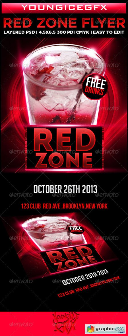 Red Zone Flyer Template