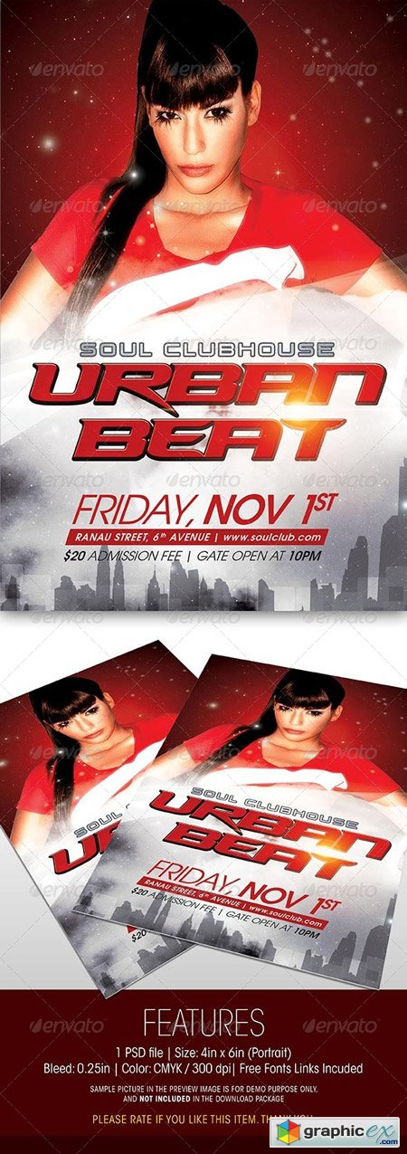 Urban Beat Party Flyer