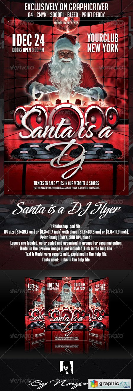 Santa is a DJ Flyer Template