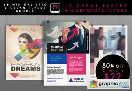 18 Premium Corporate & Event Flyer Templates with a Commercial License
