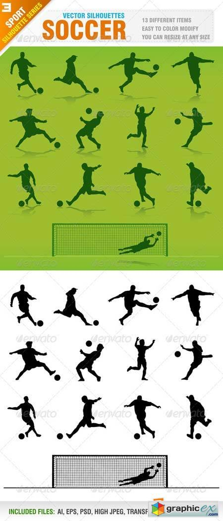 Soccer Silhouettes 2449254