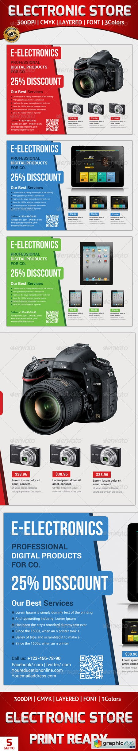 Electronic Store Flyer Template