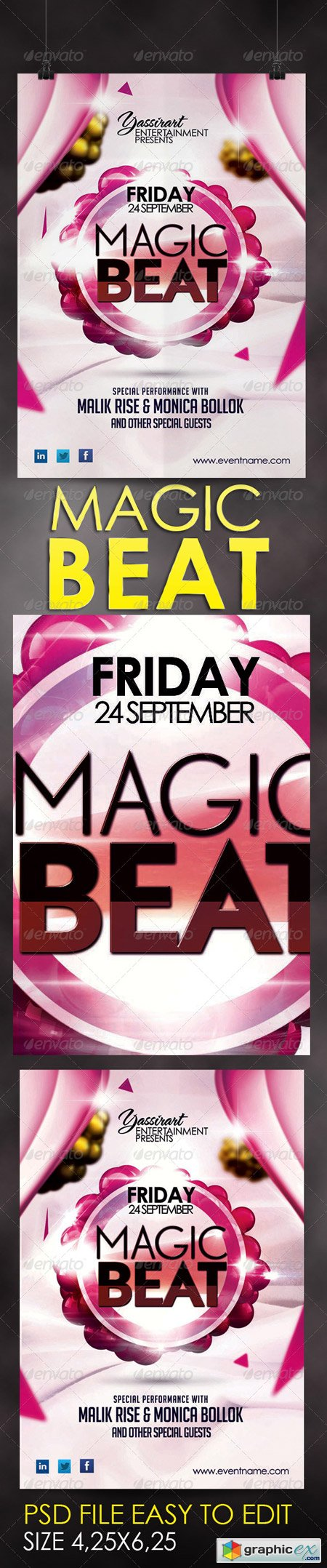 Magic Beat Flyer Template