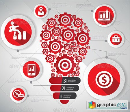 Gear Lightbulb Graphics Design