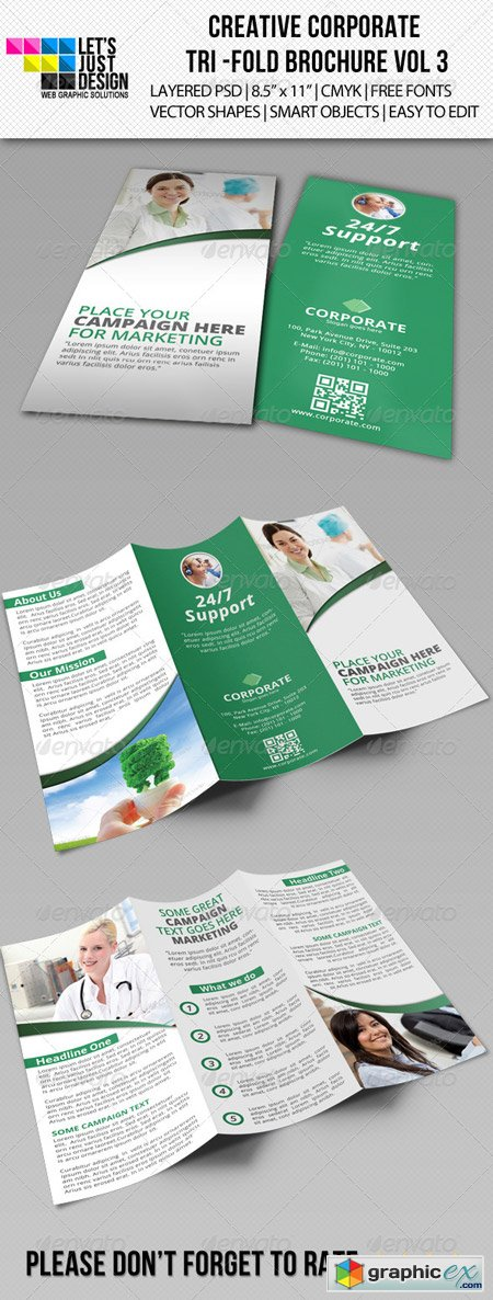 Creative Corporate Tri-Fold Brochure Vol 3