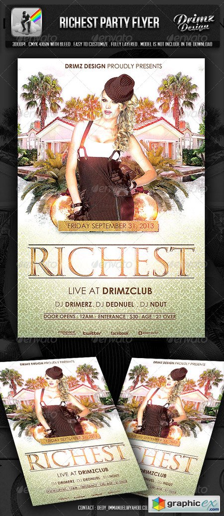 Richest Party Flyer