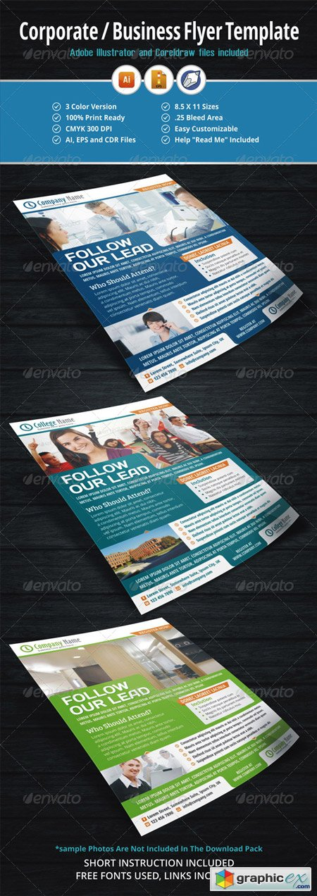 Corporate Business Flyer Template 5598083