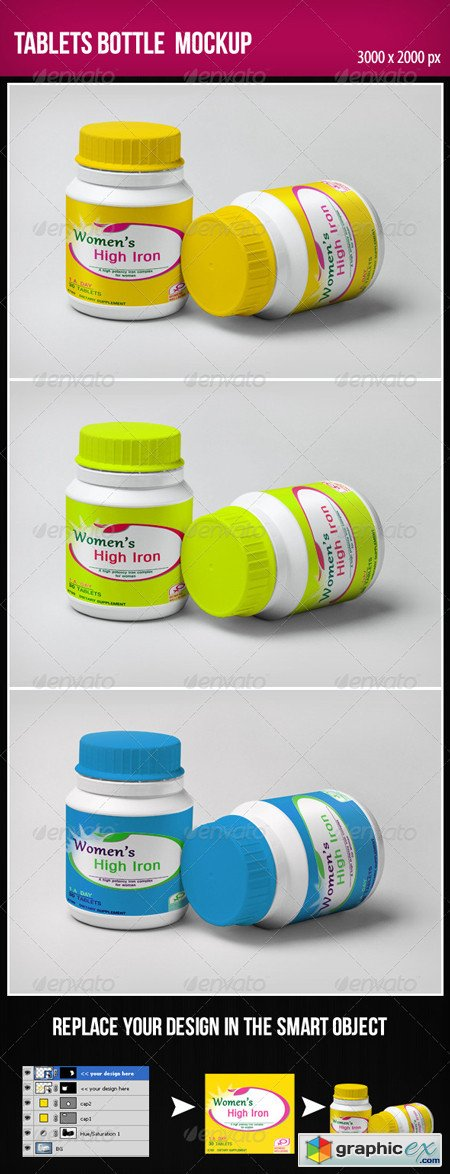 Tablets Bottle Mock-Up
