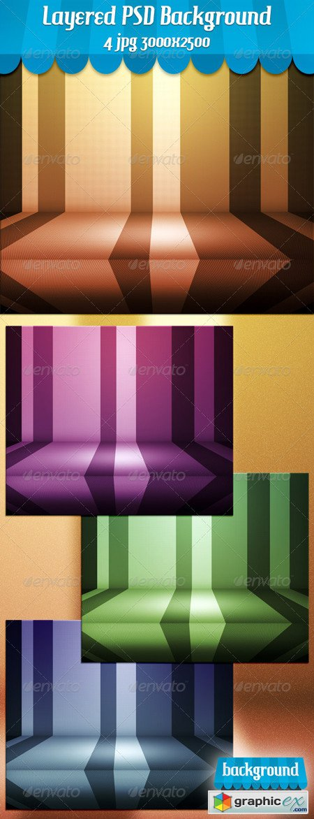 Retro Stage PSD Background