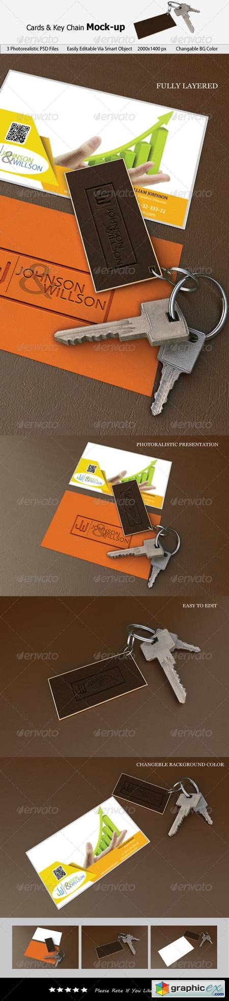 Cards & Key Chain Mock-up