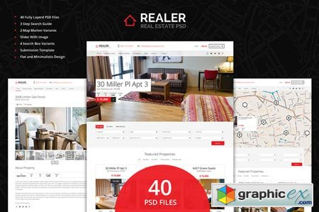 Realer - Real Estate PSD Template 22074