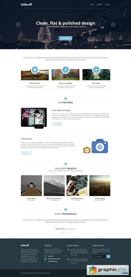 Webworld - One Page Template 22365