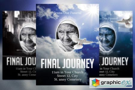 Funeral Flyer Template 22356