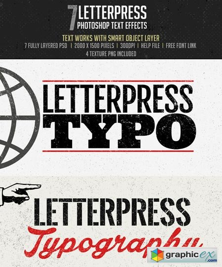 Letterpress -Photoshop Effects 43994