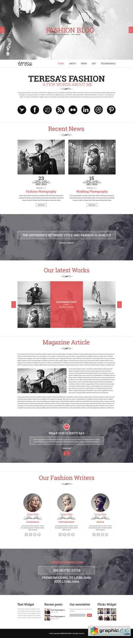 Teresa - A One Page PSD Template 22586