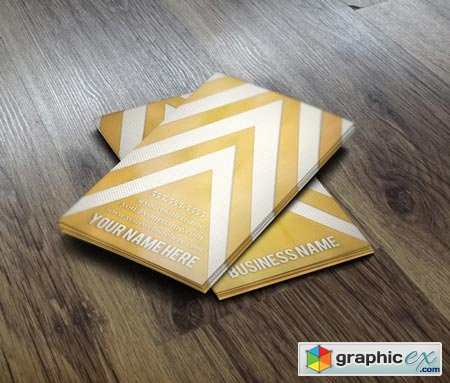 Gold Chevron Business Card 22660