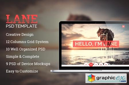 Lane Creative PSD Template 25226