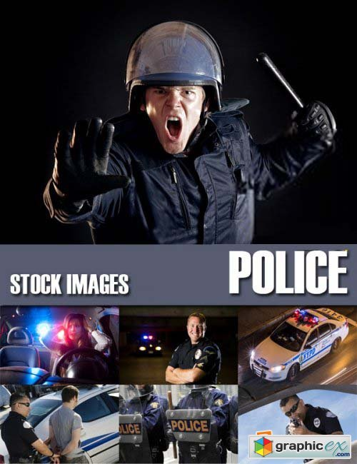 Stock Photos - Police, 25xJPG
