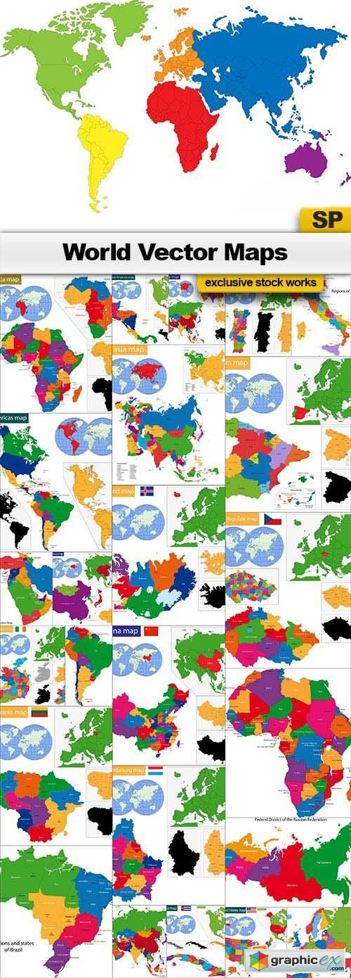 World Maps Vectors 25x EPS