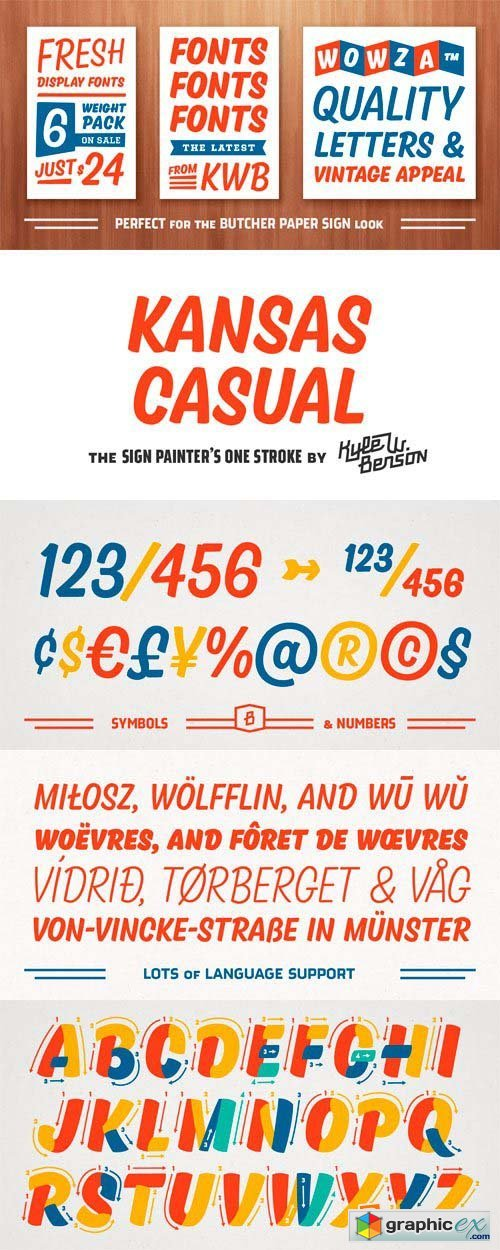 Kansas Casual Font Family - 6 Fonts