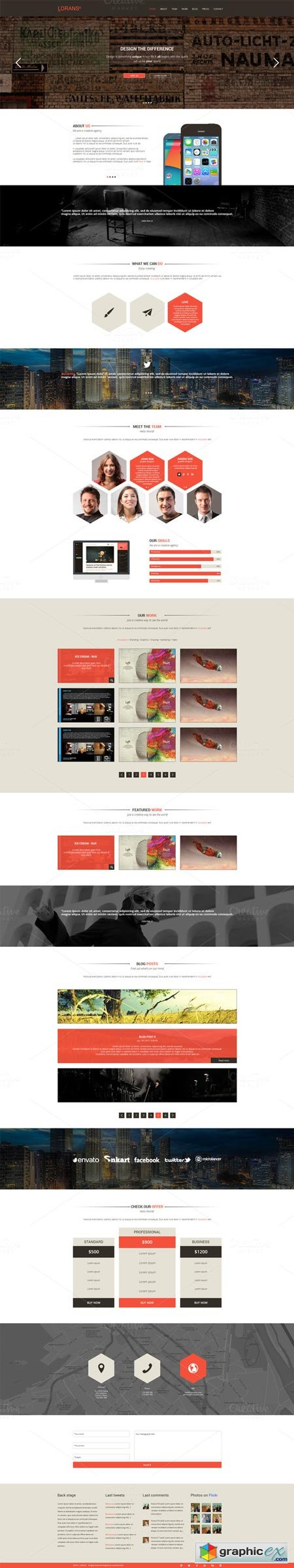 Lorans - One Page PSD Theme 21598