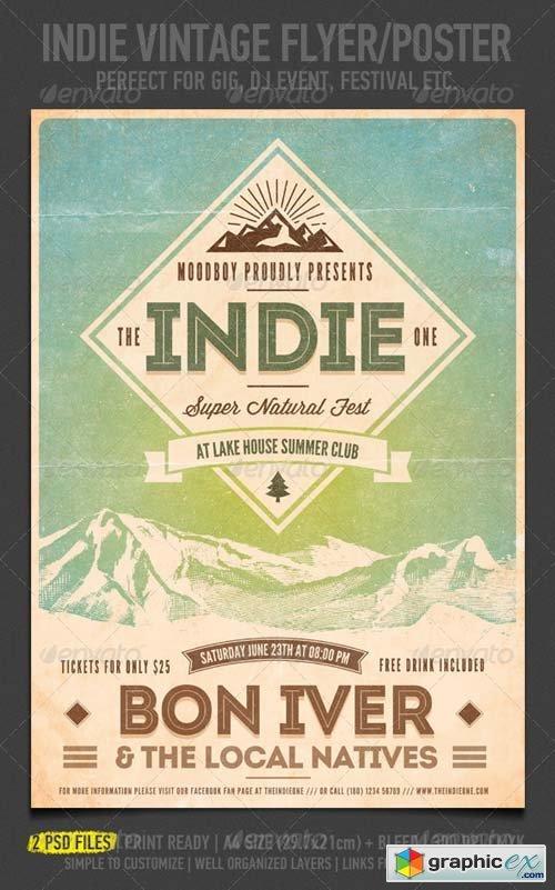 Indie Vintage Flyer/Poster
