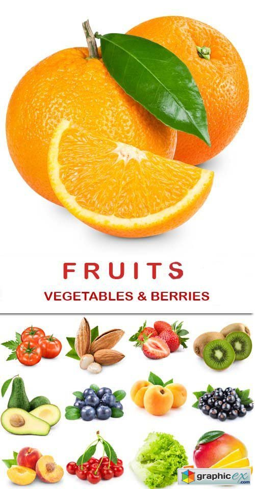 Fruit, vegetables and berries, 25xJPGs