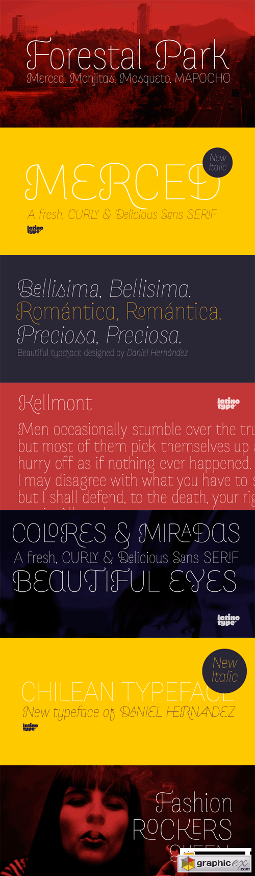 Merced Font Family - 2 Fonts for $69