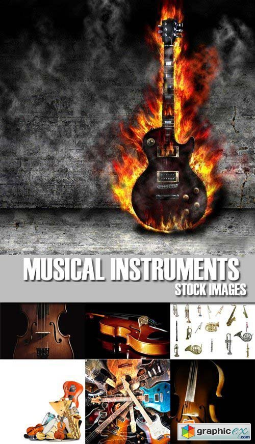 Stock Photos - Musical Instruments, 25xJPG