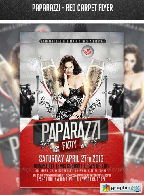 Paparazzi - Red Carpet Flyer » Free Download Vector Stock Image ...