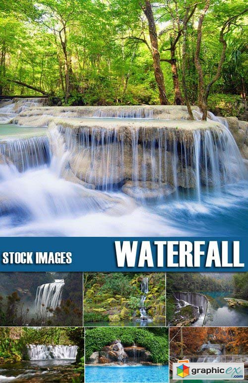 Stock Photos - Waterfall, 25xJPG