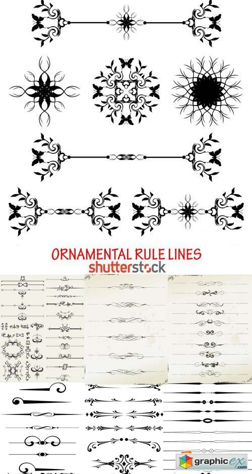 Amazing SS - Ornamental Rule Lines, 25xEPS