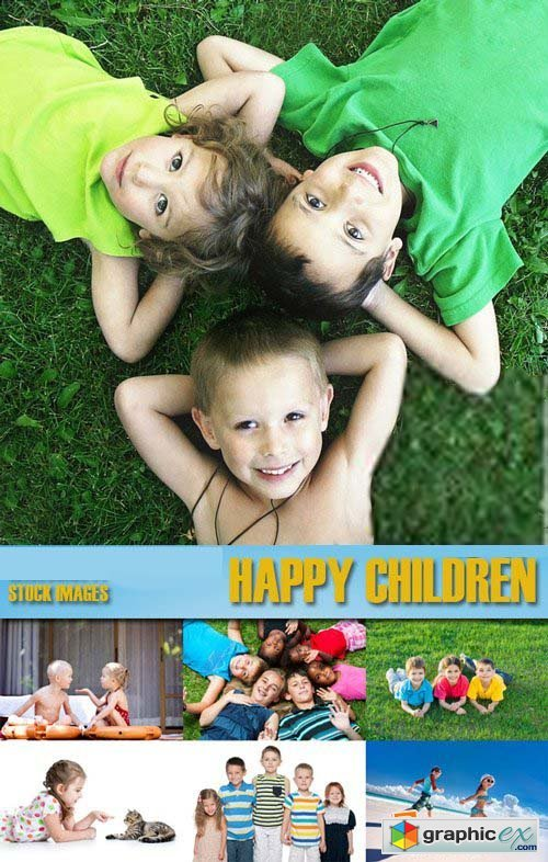 Shutterstock - Happy children 2, 25xJpg