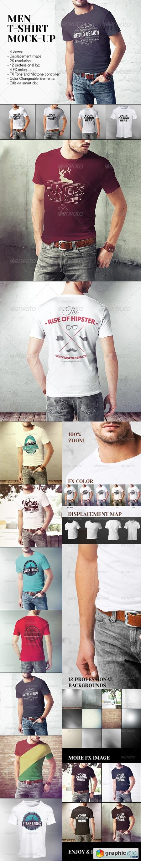 GraphicRiver Men T-Shirt Mock-Up 7876525