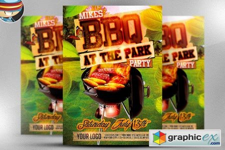 Summer BBQ Flyer Template 45601