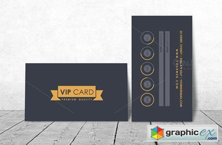VIP Loyalty Card Template Free Download Vector Stock Image - Free loyalty card template download
