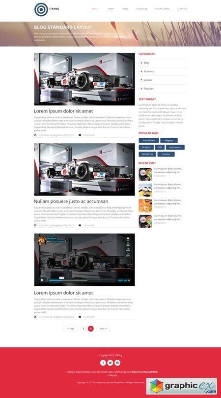 Kiing - One Page PSD Template 21010