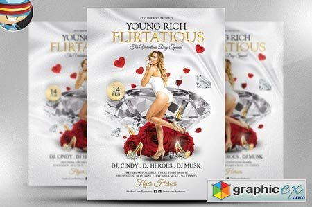 Young Rich and Flirtatious PSD Flyer 21244