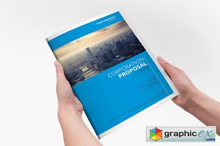 Clear Corporate Template Brochure 21556
