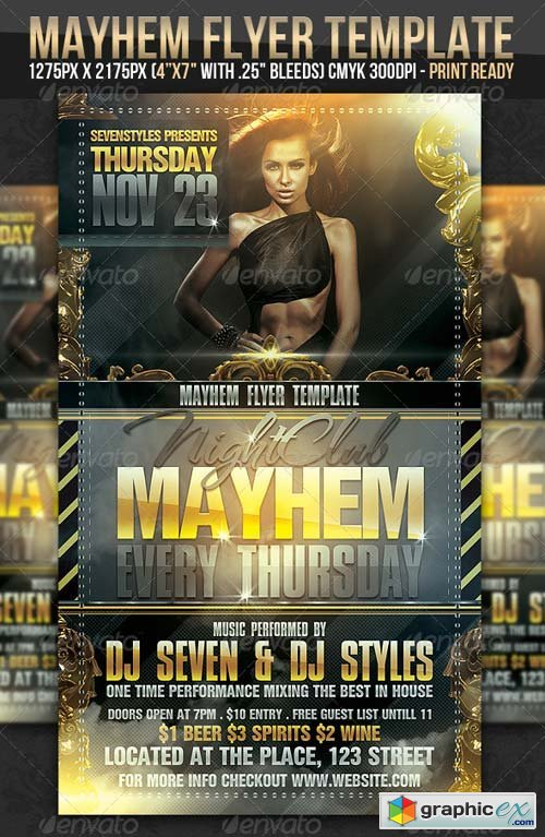 Mayhem Flyer Template  Free Download Vector Stock Image Photoshop Icon