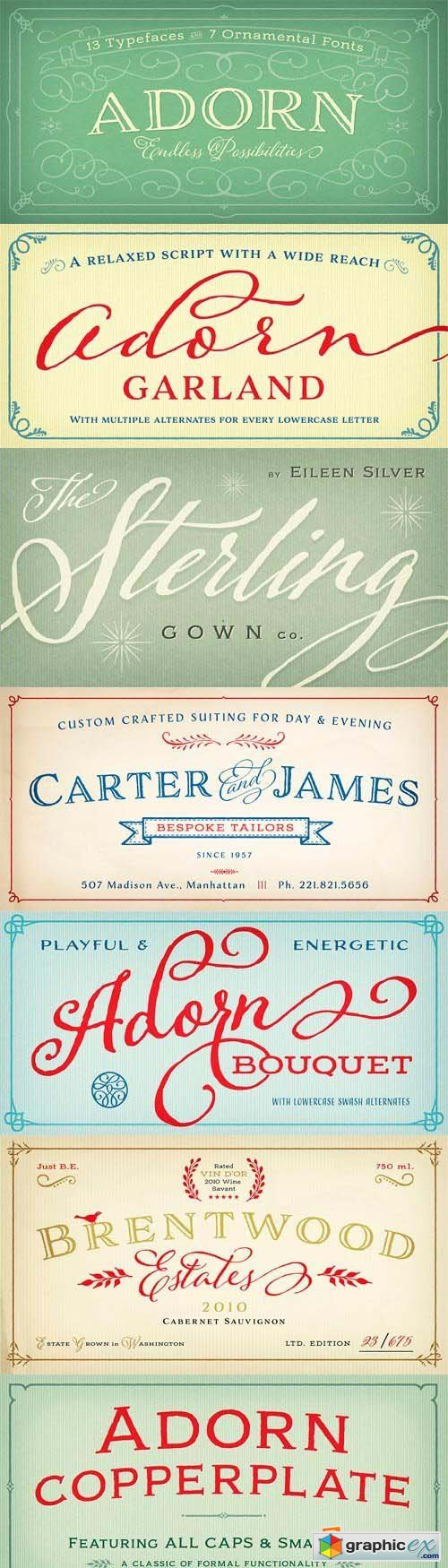 Adorn Font Family - 20 Fonts for $99