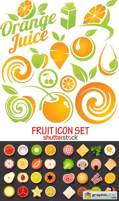 Amazing SS - Fruit icon set, 25xEPS