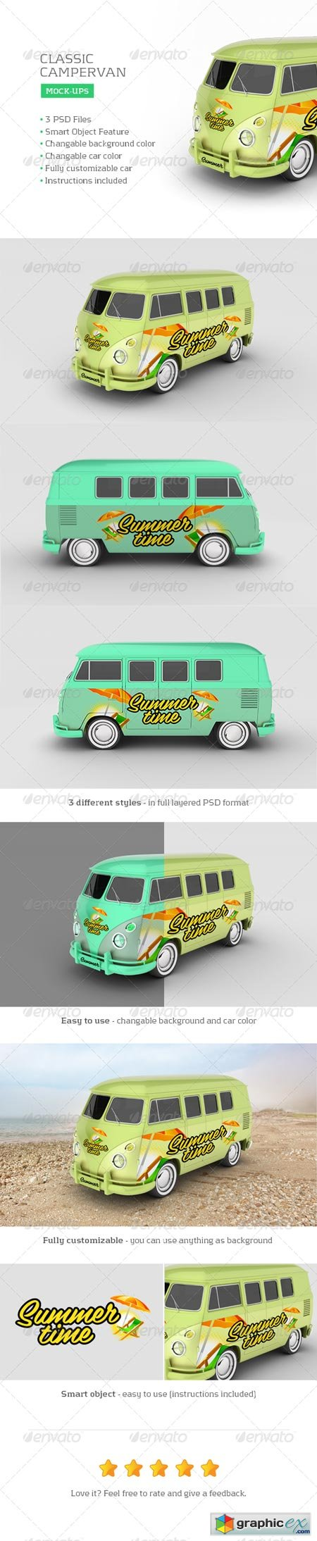Classic Campervan Car Mock-Up 7815231